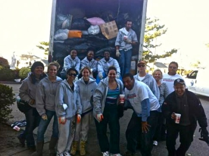 Goodwill Team in Breezy Point, Sunday November 11, 2012