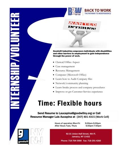 intern flyer recruitment