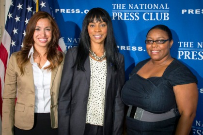 Veterans from left to right are Rebecca Gutierrez (U.S. Air Force), Pamela Johnson (U.S. Army) and Juanita Williams (U.S. Navy).