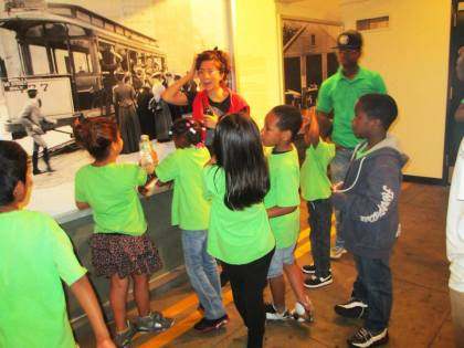 Summer campers from Goodwill NYNJ's 2013 OST Program visit the NY Transit Musuem