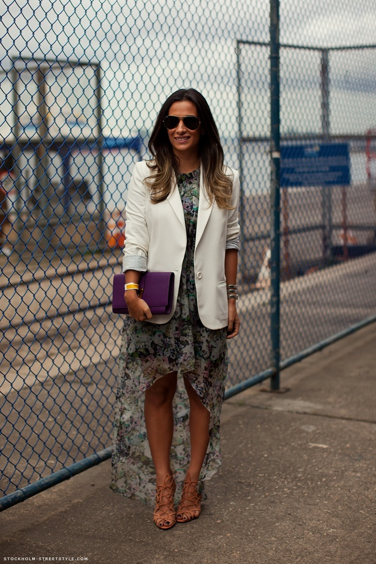 I love this high low + blazer combo from Lauren Wong on Pinterest. A perfect day-to-night look!