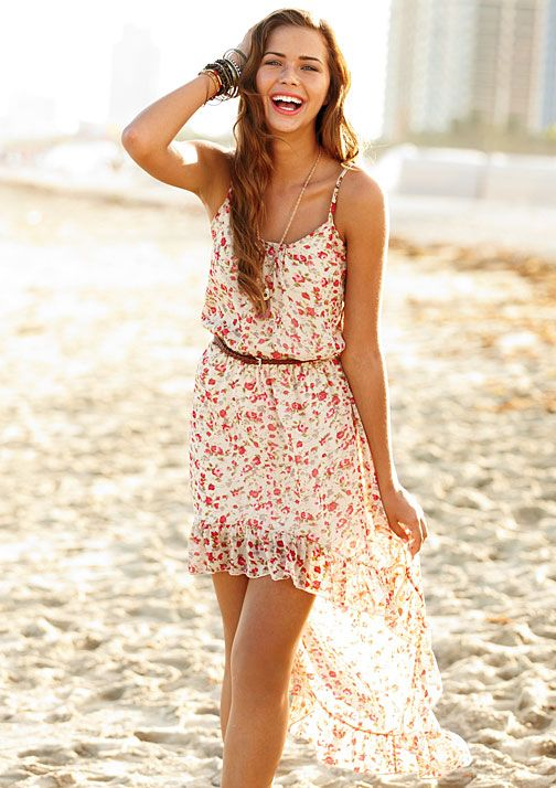 Her Campus styles this high-low dress perfect for a day on the beach!