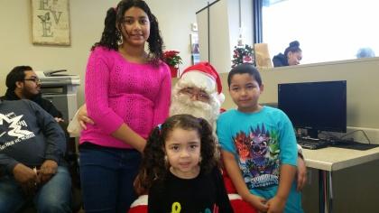 Santa Visiting